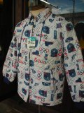 1960'S DEADSTOCK POPART NYLON QUILTED SKI JACKET SIZE/16