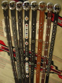 "他の写真3: RAWHIDE STUDDED & JEWELED BELT LOT-220/ 1-1/2""[38MM]"