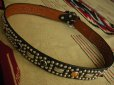 "画像5: RAWHIDE STUDDED & JEWELED BELT LOT-220/ 1-1/2""[38MM]"
