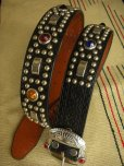 "画像4: RAWHIDE STUDDED & JEWELED BELT LOT-220/ 1-1/2""[38MM]"