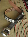 "RAWHIDE STUDDED & JEWELED BELT LOT-224/ 1-1/2""[38MM]"