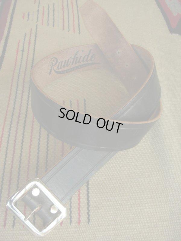 """画像1: RAWHIDE PLAIN BELT/UK BRIDLE SADDLE By J & FJ Baker & Co,LOT-001/ 1-3/4""""[44MM]"""
