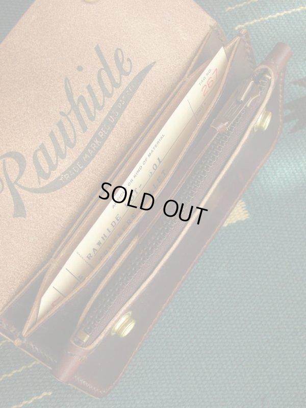 画像3: RAWHIDE TRUCKERS WALLET LOT-501/D,BROWN/UK BRIDLE By J & FJ Baker & Co,