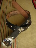 "RAWHIDE STUDDED & JEWELED BELT LOT-236/ 1-1/2""[38MM]"