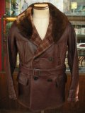 1930'S MONARCH SHAWL COLLAR HORSEHIDE COAT/AJUST BELT ON SLEEVES