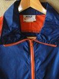 70S米国製ビンテージNIKEナイロンープルオーバー紺Xオレンジ/M