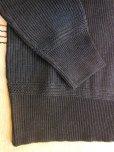 画像6: STEVENSON OVERAL U.S. Army Indigo V Neck Sweater - UVColor: Black Indigo