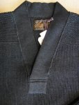 画像5: STEVENSON OVERAL U.S. Army Indigo V Neck Sweater - UVColor: Black Indigo