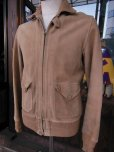 画像1: ★PRICE DOWN!★1930'S SPORTOGS GROMET ZIPPER NUBUCK A-1 STYLE JACKET  (1)