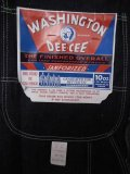 1960'S DEADSTOCK WASHINGTON DEE CEE DENIM OVERALLS SZ/42X32
