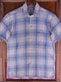 1950'S WILSHIRE FLECK PLAID COTTON SHIRT SZ/SMALL