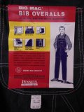 1950'S DEADSTOCK BIG MAC 10 OZ DENIM BIB OVERALLS SZ/34X34