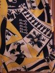 画像8: 1940'S ROYAL PALM NAVY X YELLOW BODER RAYON SHIRT SZ/M