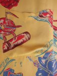 画像9: 1940'SMOORE'S HULA GIRL PRINTED RAYON HAWAIIAN SHIRT SZ/L