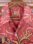 画像7: 1940'S TOP FLIGHT UNDER SEA PRINTED RAYON HAWAIIAN SHIRT SZ/M