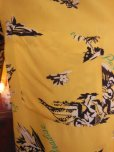 画像7: 1940'S HAWAIIAN PRINTS YELLOW RAYON HAWAIIAN SHIRT SZ/S
