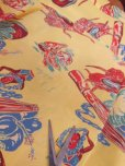 画像16: 1940'SMOORE'S HULA GIRL PRINTED RAYON HAWAIIAN SHIRT SZ/L