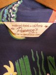 画像7: 1940'S PENNEY'S DARK NAVY RAYON HAWAIIAN SHIRT SZ/M