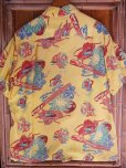 画像8: 1940'SMOORE'S HULA GIRL PRINTED RAYON HAWAIIAN SHIRT SZ/L