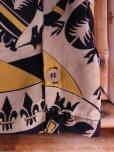 画像10: 1940'S ROYAL PALM NAVY X YELLOW BODER RAYON SHIRT SZ/M