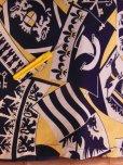 画像16: 1940'S ROYAL PALM NAVY X YELLOW BODER RAYON SHIRT SZ/M