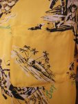 画像6: 1940'S HAWAIIAN PRINTS YELLOW RAYON HAWAIIAN SHIRT SZ/S