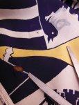 画像20: 1940'S ROYAL PALM NAVY X YELLOW BODER RAYON SHIRT SZ/M