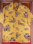 画像3: 1940'S HAWAIIAN PRINTS YELLOW RAYON HAWAIIAN SHIRT SZ/S