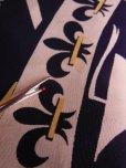 画像17: 1940'S ROYAL PALM NAVY X YELLOW BODER RAYON SHIRT SZ/M