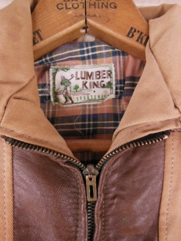 画像2: 1940'S DEADSTOCK LUMBER KING TWO TONE SPORTS JACKET/YOUTH14