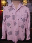 画像9: 1950'S CLADRITE ATOMIC PRINT PINK RAYON SHIRT SZ/MEDIUM