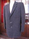 1950'S DUNBROOK DARK CHARCOALFLECK WOOL SPORT JACKET SZ/38