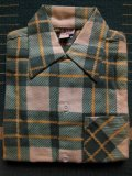 1950'S DEADSTOCK E&W BOYS PRINTED FLANNEL SHIRT /SIZE1