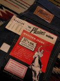 1960'S DEADSTOCK THE Plains RIDER by ELY & WALKER 11-1/4 OZ DENIM PANTS SIZE/8