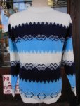 画像5: 〜1960'S BARCLAY BORDER ACRYLIC SWEATER SIZE/M