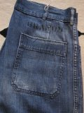 1960'S USED U.S.NAVY DENIM DUNGAREE PANTS SIZE/32X33