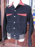 1950'S BLACK CORDUROY SHIRT JACKET SZ/M