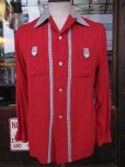画像10: 1950'S McGREGOR TWO TONE RED RAYON SHIRT SZ/YOUTH20