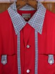 画像4: 1950'S McGREGOR TWO TONE RED RAYON SHIRT SZ/YOUTH20