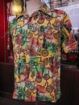 画像1: 1940'S YEE FOOK ASIAN ORIENTAL PATERN COTTON SHIRT SZ/M (1)