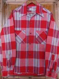〜1950'S STYLIST PLAID COTTON SHIRT SZ/MEDIUM