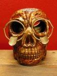 画像3: 1950'S〜 SKULL W/GLASSES ASHTRAY ヴィンテージ陶器製スカル骸骨灰皿1