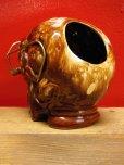 画像5: 1950'S〜 SKULL W/GLASSES ASHTRAY ヴィンテージ陶器製スカル骸骨灰皿1