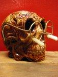 画像9: 1950'S〜 SKULL W/GLASSES ASHTRAY ヴィンテージ陶器製スカル骸骨灰皿1