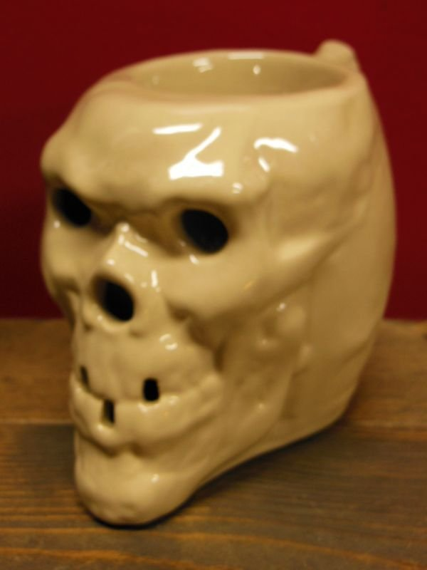 画像1: 1950'S〜 SKULL POTTERY TRADER VIC'S TIKI MUG ヴィンテージ陶器製スカルマグ2