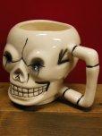 画像3: 1950'S〜 sKULL POTTERY TIKI MUG ヴィンテージ陶器製スカルマグ7