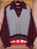 1950'S WESTWARD-HO LAYERED PULLOVER RIB SHIRT/MEDIUM
