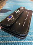 画像6: RAWHIDE STUDDED & JEWELED TRUCKERS WALLET LOT-501A/BLACK