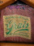 画像2: 1950'S GRAIS HORSEHIDE W MOTORCYCLE JACKET SZ/38-40 (2)