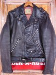 画像1: 1950'S GRAIS HORSEHIDE W MOTORCYCLE JACKET SZ/38-40 (1)